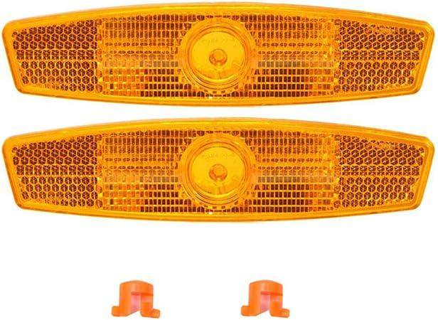 Behavetw 2/Pcs V/élo Spoke R/éflecteurs Hybride Montagne Roue de V/élo Spoke R/éflecteurs Route