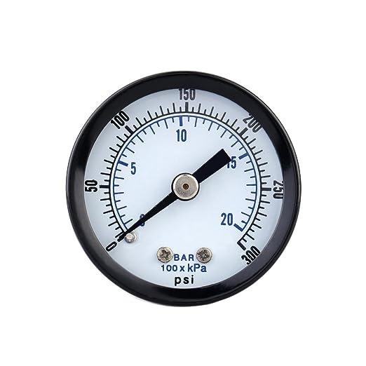 UEETEK Indicador de presi/ón de vac/ío para compresor de aire Gas Oil Gas 0-30PSI