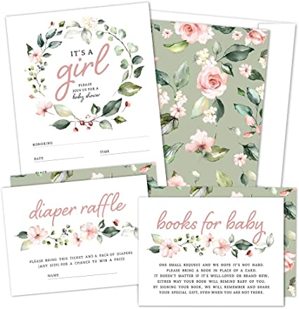 Baby Shower Decorations Cards And Gifts Green Gender Neutral or For Girls Blush Blush Floral Boho Baby Shower Baby Shower Sign Pink