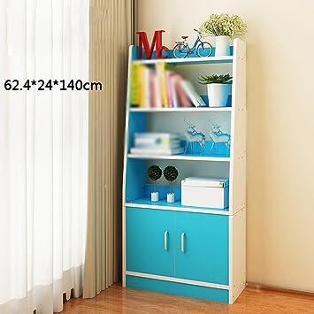 MEIDUO Storage Racks Massivholz Rosa Holz Farbe Blau Gelb Doppeltür ...