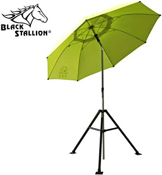 Blue Black Stallion UB200 Core Flame-Resistant Industrial Umbrella