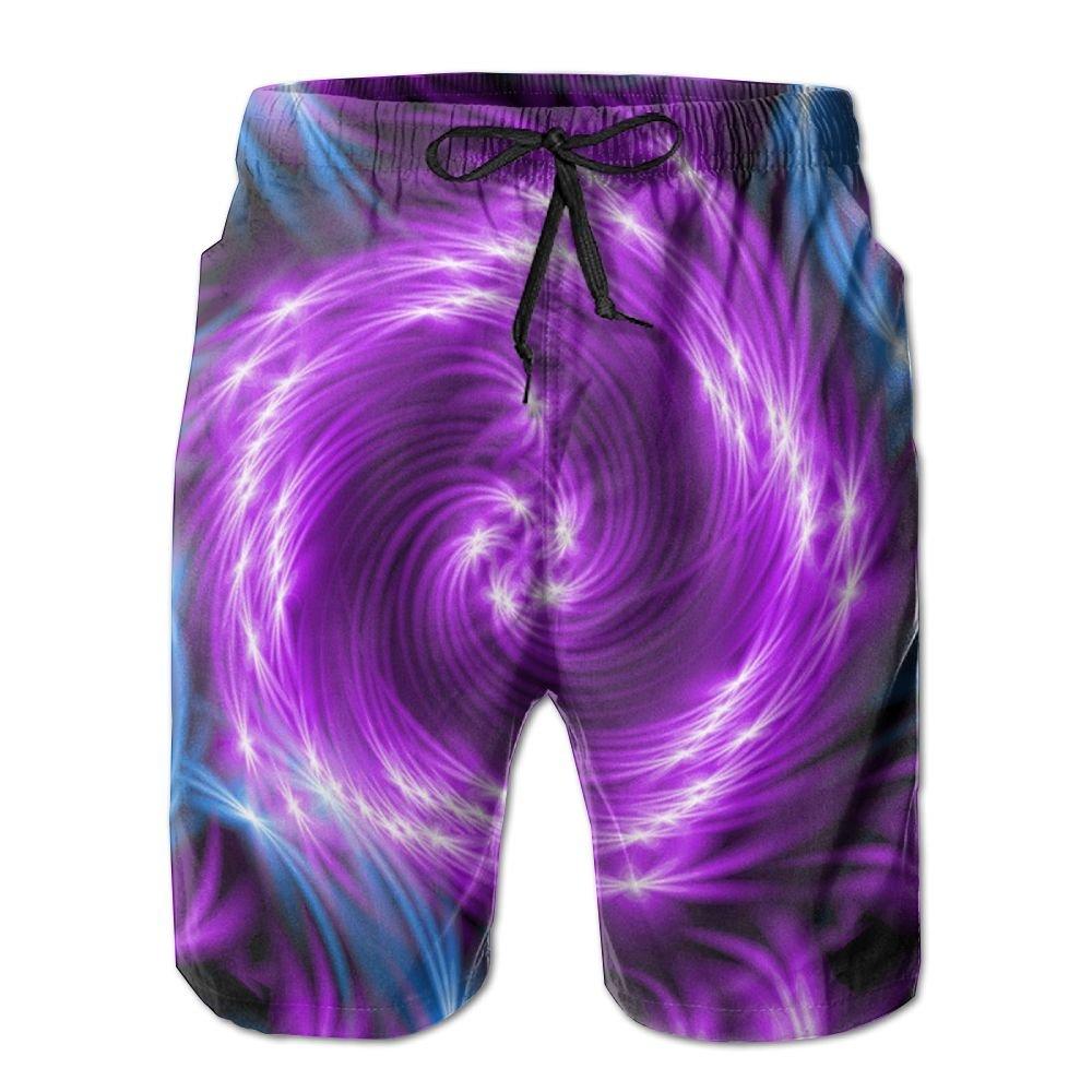 TO-JP Mens 3D Printing Beach Shorts Flower Swim Trunks