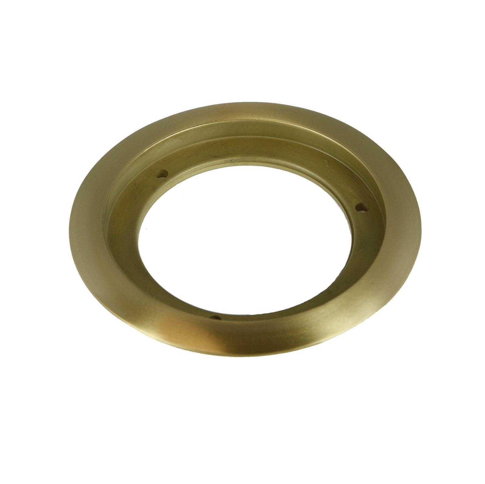 ENERLITES Recessed Flange Mounting Ring for Round 4'' Floor Box Covers, 5.25'' Diameter, Corrosive Resistant, 975518-C, Brass