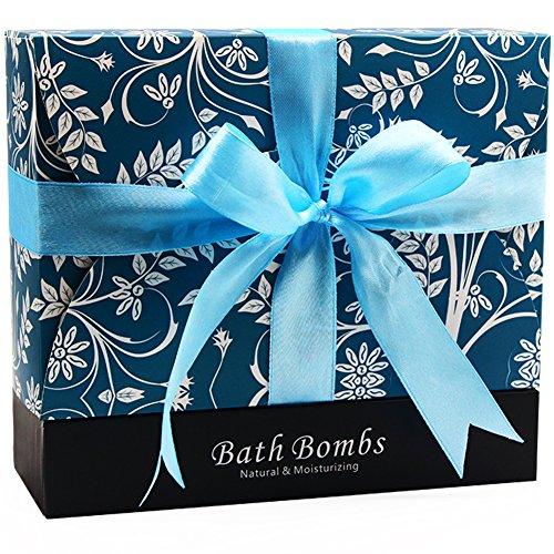 Bath Bombs  Afomee Birthday Gifts For Women  Men   Handmade Valentines Day Gift For Wift  Girlfriend  Her   6 Large Natural Organic Relaxation Moisturizing Spa Fizzies With Added Detox Ability