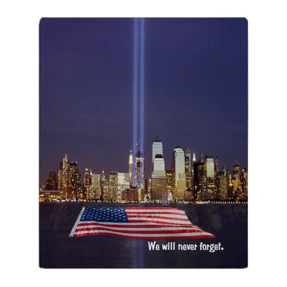 CafePress – 9 / 11 Tribute – Never Forget – ソフトフリーススローブランケットブランケット、50