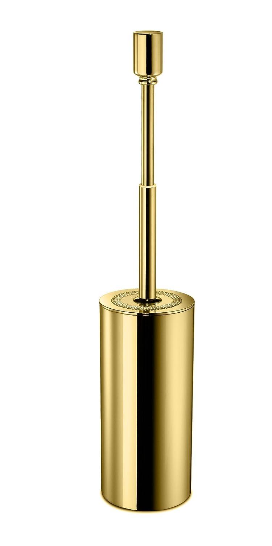 ShinelightラウンドStandingトイレボウルブラシとホルダーセット、トイレブラシとホルダークリーナーW /スワロフスキークリスタル 3.15 W x 3.15 D x 15.75 H in. 89175-G B01FSVAHEE 光沢ゴールド