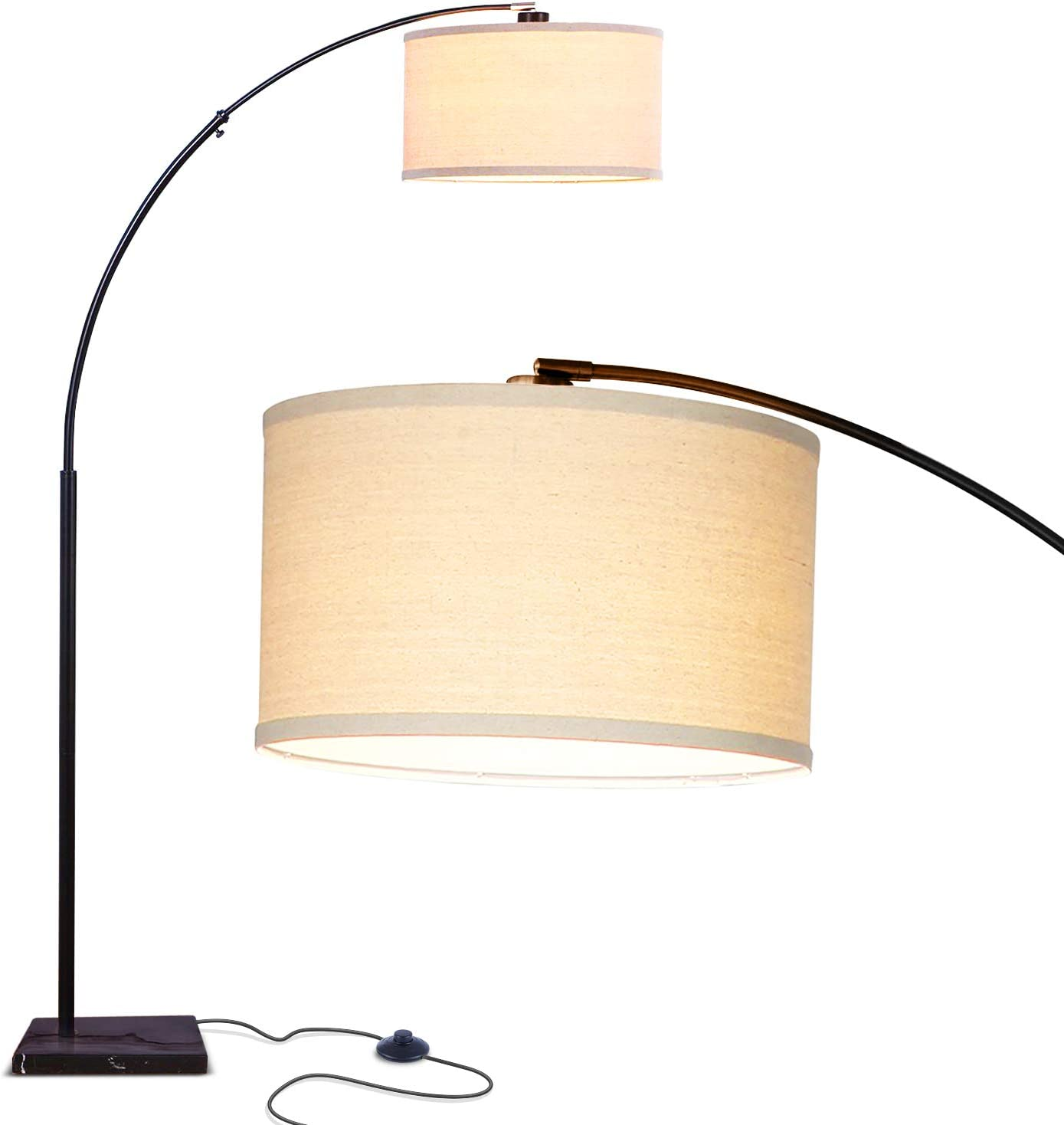 Shop Contemporary Arc Floor Lamp w. Marble Base from Amazon on Openhaus