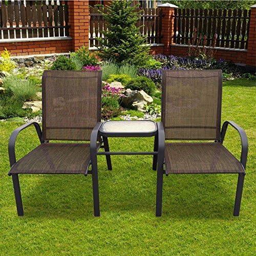 Elegante Comfortalbe bronce Tete-A-Tete – Banco de jardín Muebles de jardín/al aire libre muebles