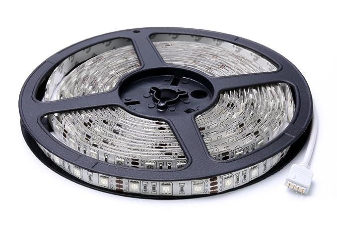 Auralum 500 cm 300 ledes 5050 SMD RGB tira de LED resistente al agua IP65,