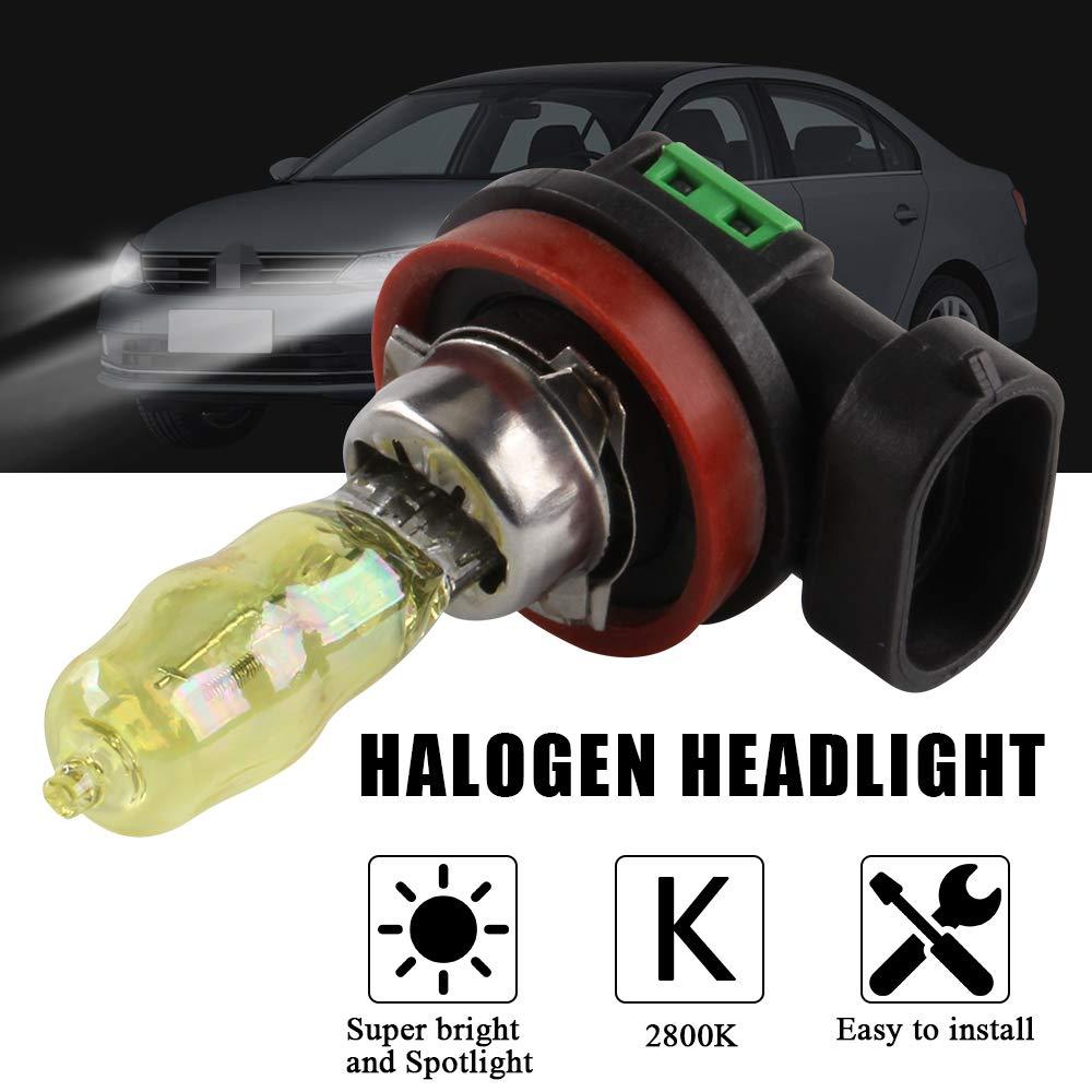 2pcs H4 100w Super Brillant Jaune Lumi/ère 2800K Halog/ène au HID Ampoule 12v Voiture Phare Antibrouillard Lampe Remplacement