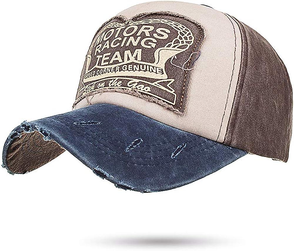 Cotton Cowboy Cap Vintage Wash Unisex Fake Old Hat Edge Grinding Baseball Cap Motorcycle Biker Trucker Hat