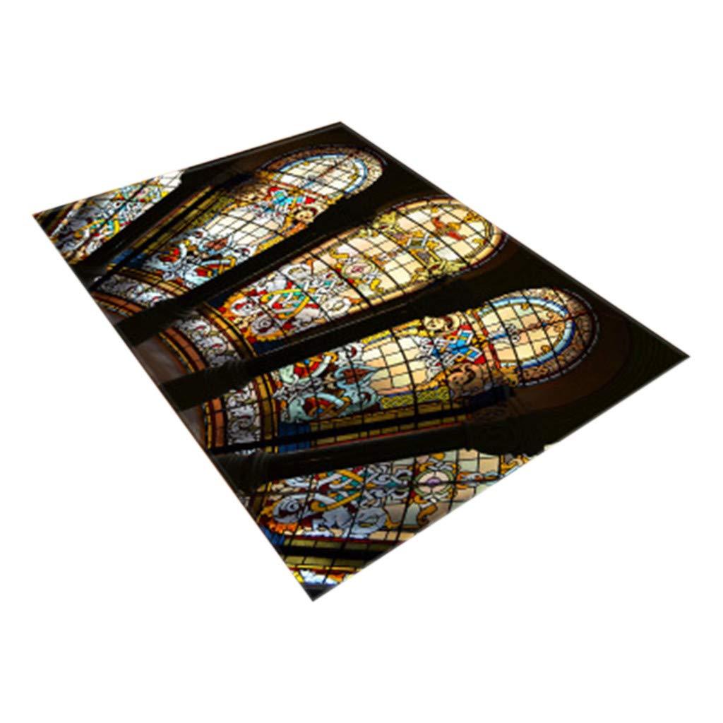 Meidexian888 Home Decor Carpet, Notre Dame Photo Commemorative Day Comfortable Carpet (B)
