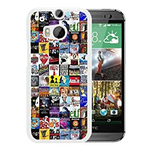 Grace Protactive Broadway Collage White Case Cover for HTC ONE M8