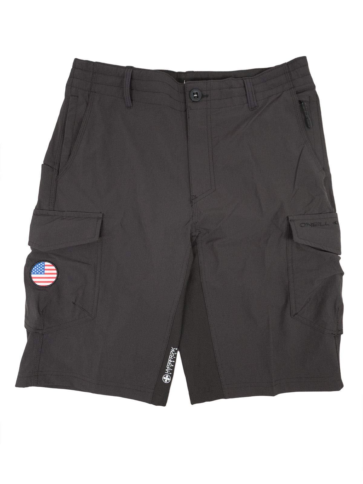 O'NEILL Men's GI Jack Traveler Cargo Pocket Hybrid Stretch Walk Short, 21 Inch Outseam [Extended Sizing – Up to Size 48]