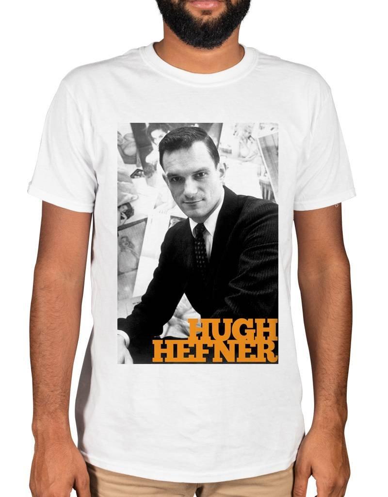 Ulterior Clothing Hugh Hefner And Portrait Graphic T Shirt 3172