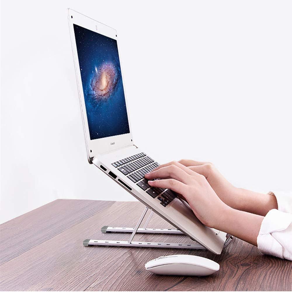 Portable Aluminum Laptop Stand Holder,Notebook Desktop Cooling Foldable Lifting Bracket Space-Save