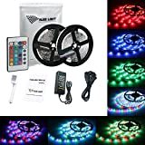 ALED LIGHT 2x5M (10M in Total) 3528 SMD 600 Led RGB Strip,Flexible Led Strip Ribbon with 6A Power Adapter+24 Key IR Remote+Controller Box.Decorative Led Strip Light for Holiday, Event, Show Exhibition