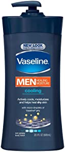 Vaseline Men Healing Moisture Body Lotion - Cooling - 20.3 oz