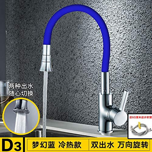 bluee NANA318 StainlessBathroom Sink Taps Steel Kitchen Sink Taps Mixers 1545º Swivel SpoutSingle Lever