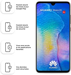 "Huawei Mate 20 HMA-L29 Dual-SIM 128GB (4GB RAM, 6.53"" inch, Android) (GSM Only, No CDMA) Factory Unlocked 4G/LTE Smartphone (Black) - International Version"