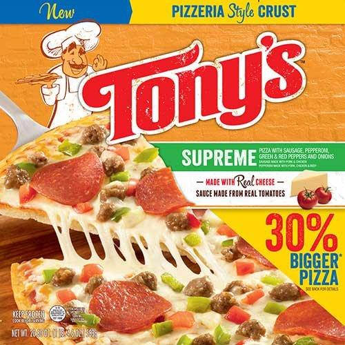 Tonys Pizzeria Style Pizza Supreme, 20.6 Ounce -- 16 per case.
