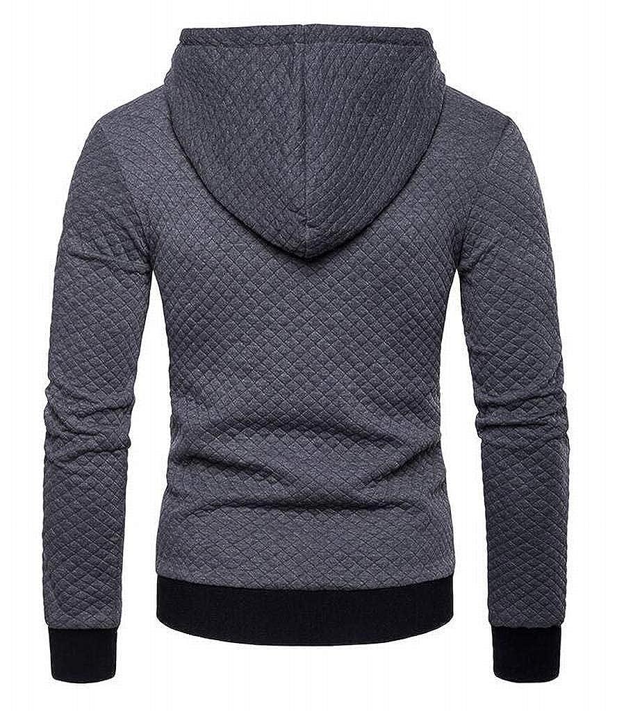 Jotebriyo Mens Zipper Thicker Casual Long Sleeve Slim Fit Hoodie Sweatshirt Jacket