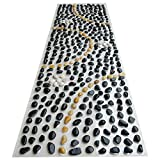 EliteShine Christmas Gift for Daddy New Year Gift for Mom Natural Pebbles Massage PVC Mat Cobblestone Health Care Reflexology Massage Bath Room Yoga Mat Bathroom Anti-slippery Doormat