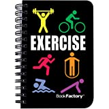 """BookFactory Fitness Journal/Workout Journal/Exercise Journal/Log Book, 120 Pages, 3.5"""" x 5.25"""" (Pocket Sized Book), Transluce"""