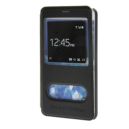 3 opinioni per MOONCASE Samsung Galaxy Note 4 Edge Case View Custodia in pelle Protettiva Flip