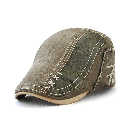 Jamont Unisex Summer Outdoor Casual Cotton Visor Hat Beret Newsboy ... 7492c32acf7