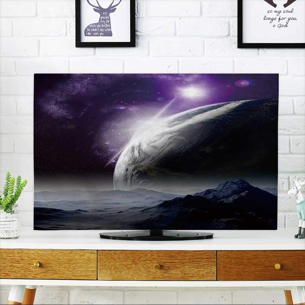 PRUNUS TV dust Cover Abstract Background of deep Space in The far Future Travel New Technologies and Resources. TV dust Cover W19 x H30 INCH/TV 32''