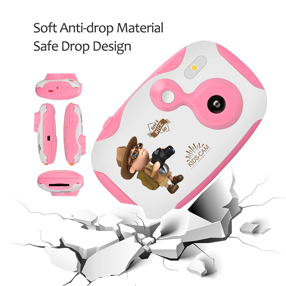 Weton Kids Digital Camera, 1.44 inch Digital Video Camera Creative DIY Camera for Kids with Soft Silicone Protective Shell 1080P HD Sport Learn Mini Camera Camcorder for Boys Girls Gifts (Pink) by Weton (Image #9)