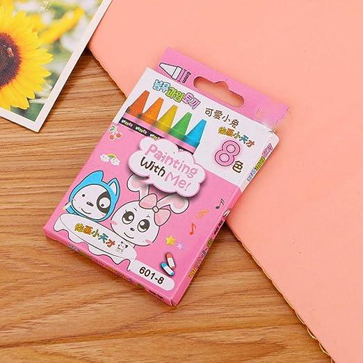 Kawaii Conejo 8 colores/caja de cera Caryon Set Art Suministros ...