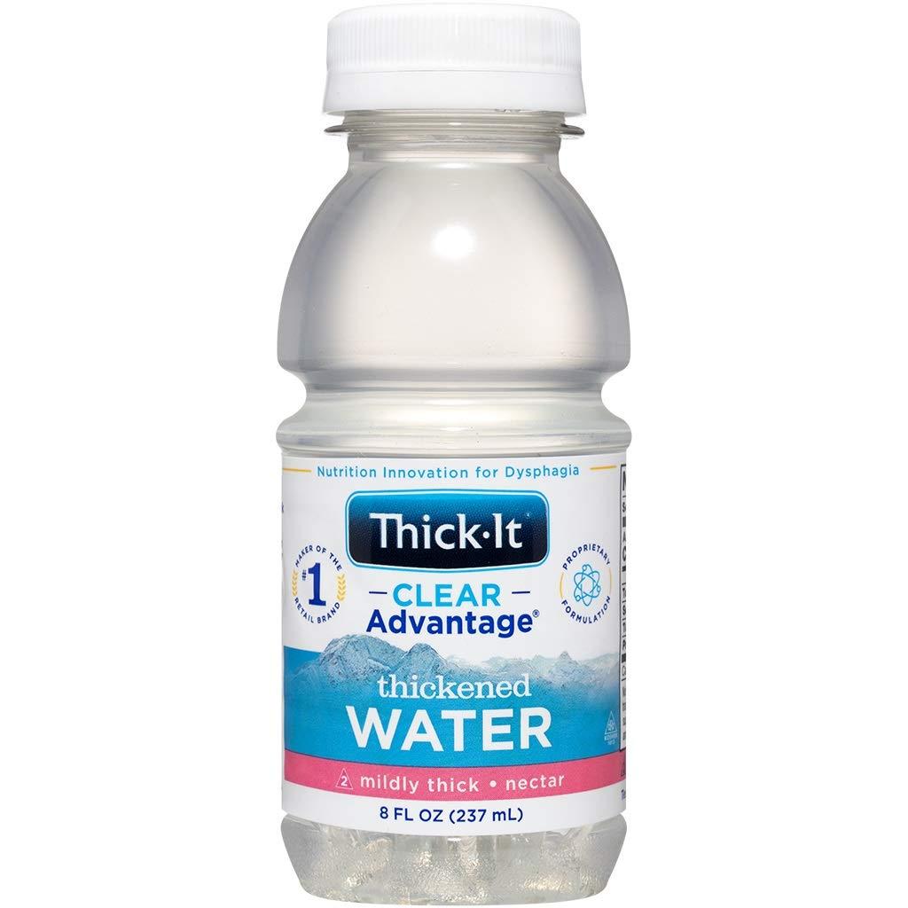 Thick-It AquaCareH2O Beverages Thickened Water - Nectar Consistency, 8 oz Bottle (Pack of 24)