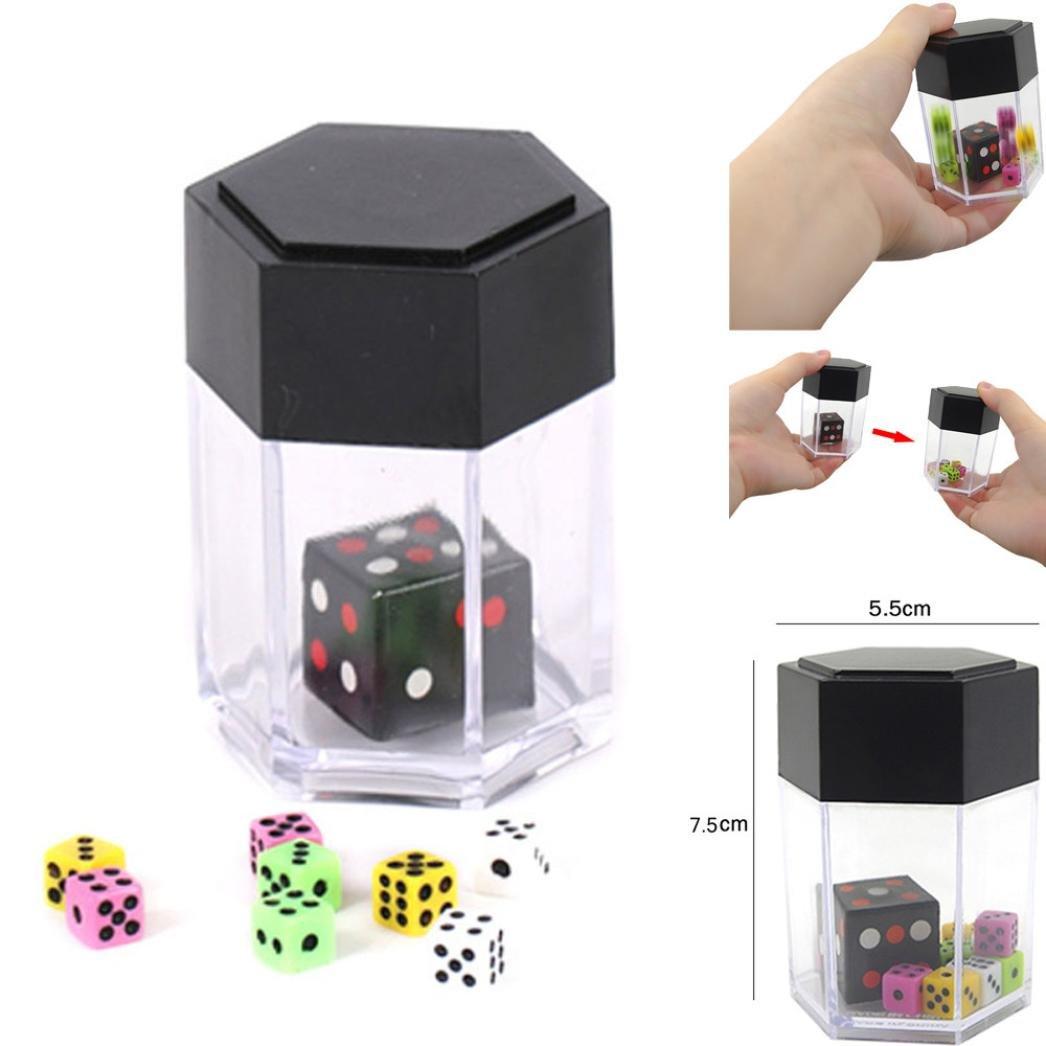 Livoty Explosion Dice Mini Colorful Bomb Dice Change Size Kids Magic Trick Toys (colorful)