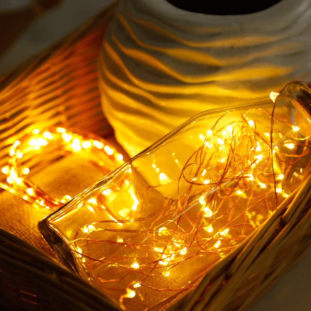 TryLight Warmwei/ß 22M LED Kupferdraht lichterketten 200 LED Solar Lichterkette Innen- und Au/ßen Weihnachtsbeleuchtung f/ür Weihnachten 8 Modi IP65 Wasserdicht Solarlichterkette