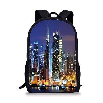 13e59e43cf49 Amazon.com: iPrint School Bags United States,Manhattan View from ...