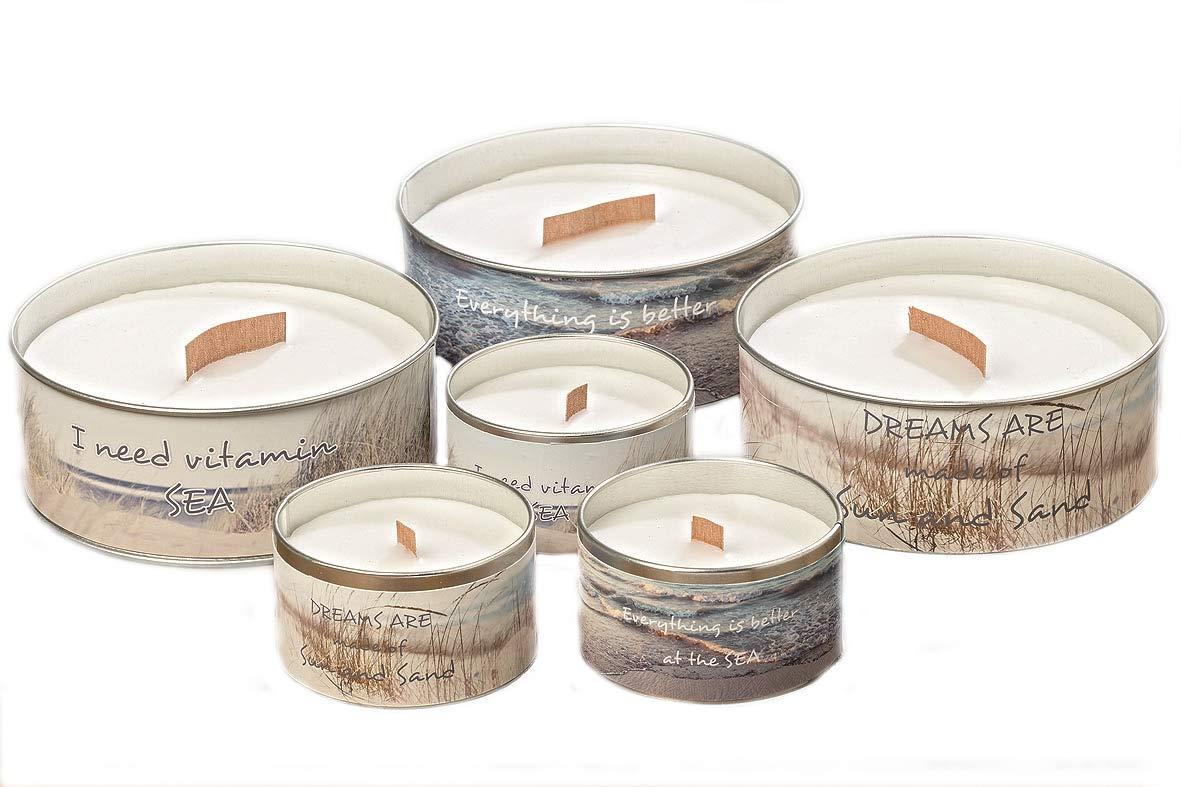 Geschenkset 4 Votiv Kerzen Duftkerzen mit Glas Raumduft Sojawachs Kerze