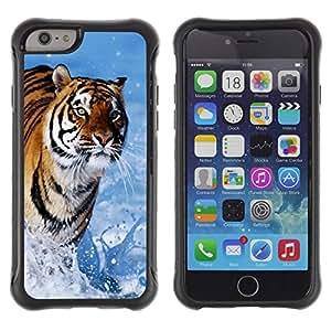 Pulsar iFace Series Tpu silicona Carcasa Funda Case para Apple (4.7 inches!!!) iPhone 6 , Blue Tiger eau Nature