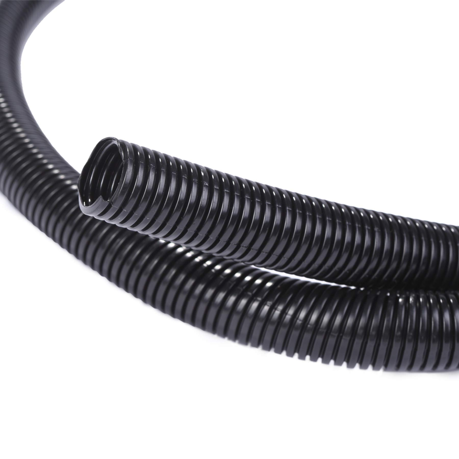 "Alex Tech 10ft-1/4"" 10ft-3/8"" 10ft-1/2"" Split Wire Loom Tubing Wire Conduit – Black"