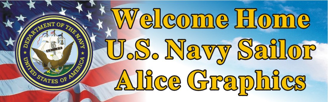Amazoncom Alice Graphics 2ftx6ft Custom Personalized Welcome Home