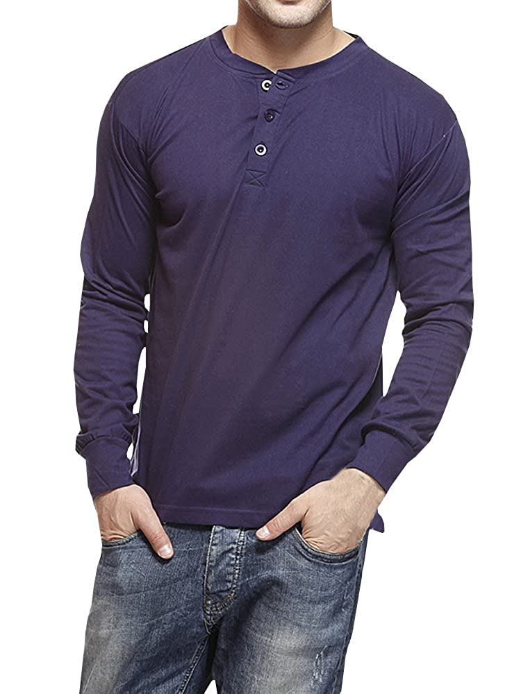223c14dadc9 Seraih Men s Casual Slim Fit Long Sleeve Henley Shirt Button Tops at Amazon  Men s Clothing store