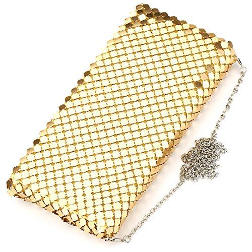HT Sparkling Handbag - Cartera de mano para mujer negro