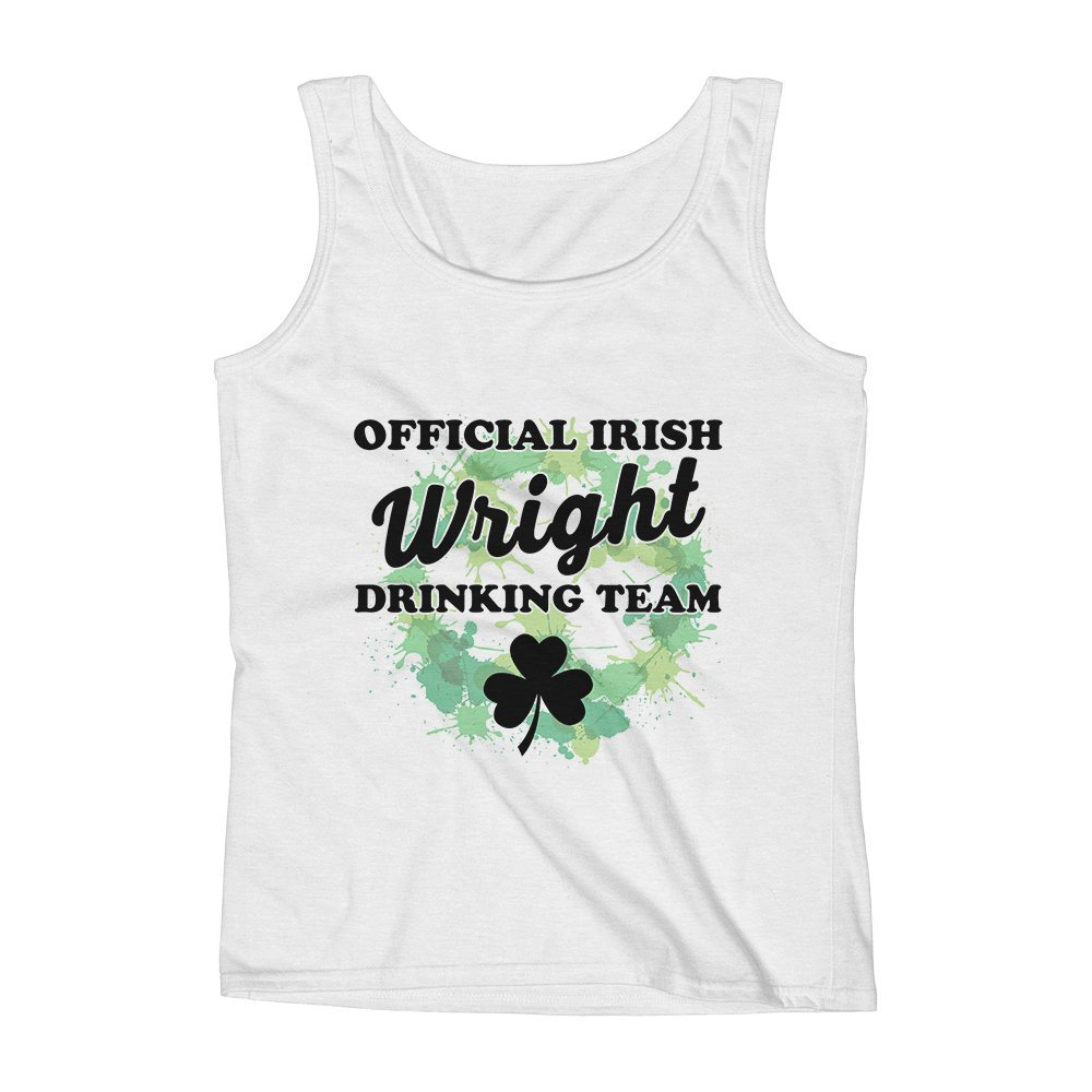Mad Over Shirts Official Irish Wright Drinking Team Unisex Premium Tank Top