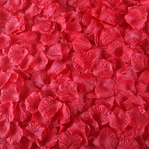 Wedding supplies for ceremony amazon gtidea 2000 pcs red artificial rose petals silk flowers wedding decoration for flower girl basket junglespirit Image collections