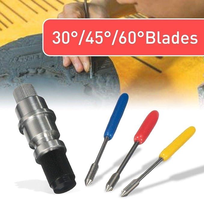 Wadoy CB09 Graphtec - Soporte para cuchillas (15 piezas, hoja gráfica (30° 45° 60°, cada grado, 5 piezas) para CB09 CB09U Graphtec Blade Plotter Cutter Silhouette Cameo: Amazon.es: Bricolaje y herramientas