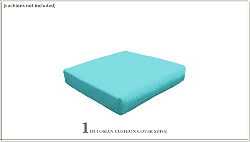 TK Classics Cover for Ottoman Cushions 6 inches Thick Aruba