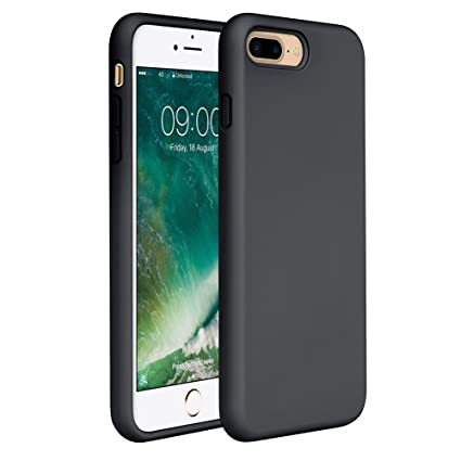 Miracase iPhone 8 Plus Silicone Case, iPhone 7 Plus Silicone Case Silicone Gel Rubber Full Body Protection Shockproof Cover Case Drop Protection for ...