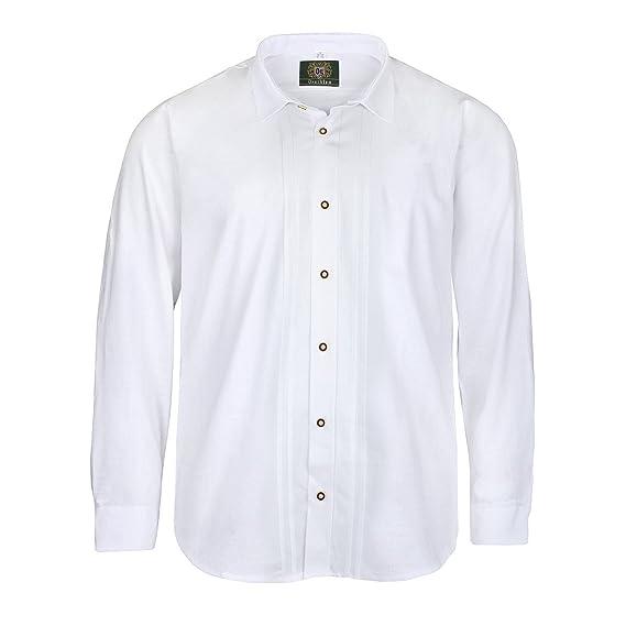 Camisa de traje típico blanca Orbis en tallas XXL: Amazon.es ...