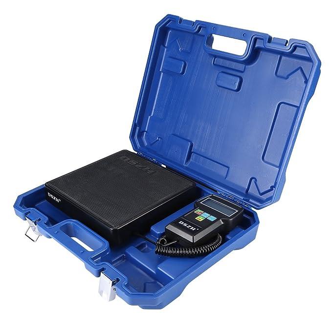 220lb/100kg Electrónico Carga de Refrigerante Digital Escala de Peso con Estuche para A/C
